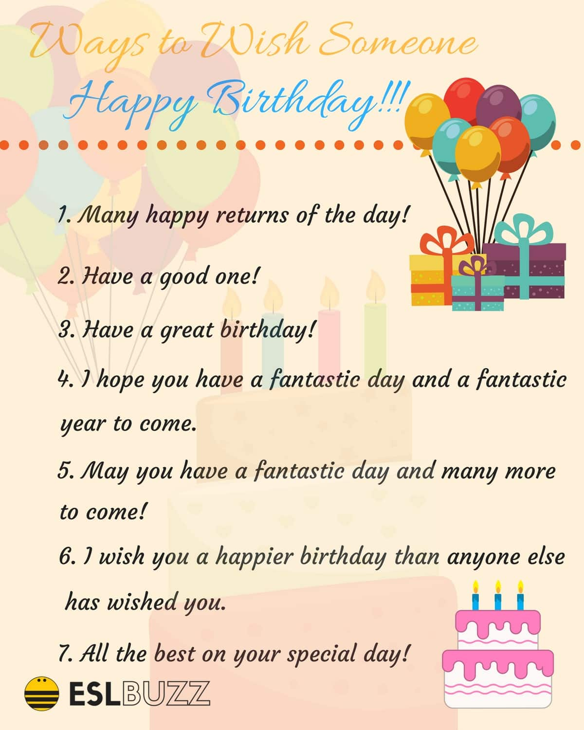20 Creative Ways To Say Happy Birthday ESLBuzz Learning