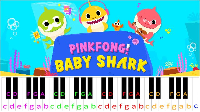 Baby Shark By Pinkfong Piano Letter Notes