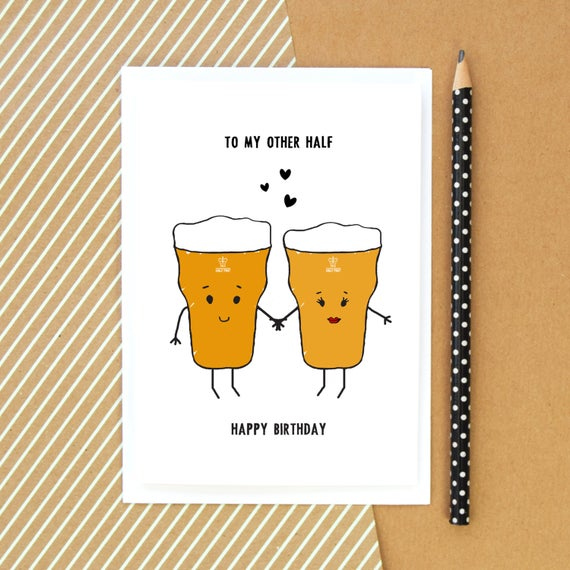 Beer Card Birthday Card Funny Card Beer Card For Him