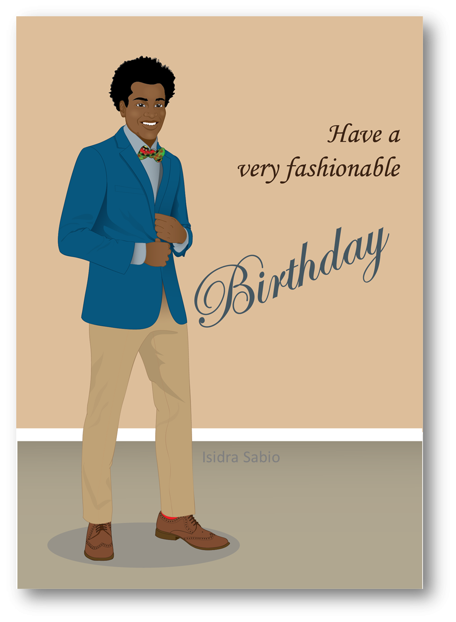 COMING SOON This Afrocentric Birthday Card For Men Shows A