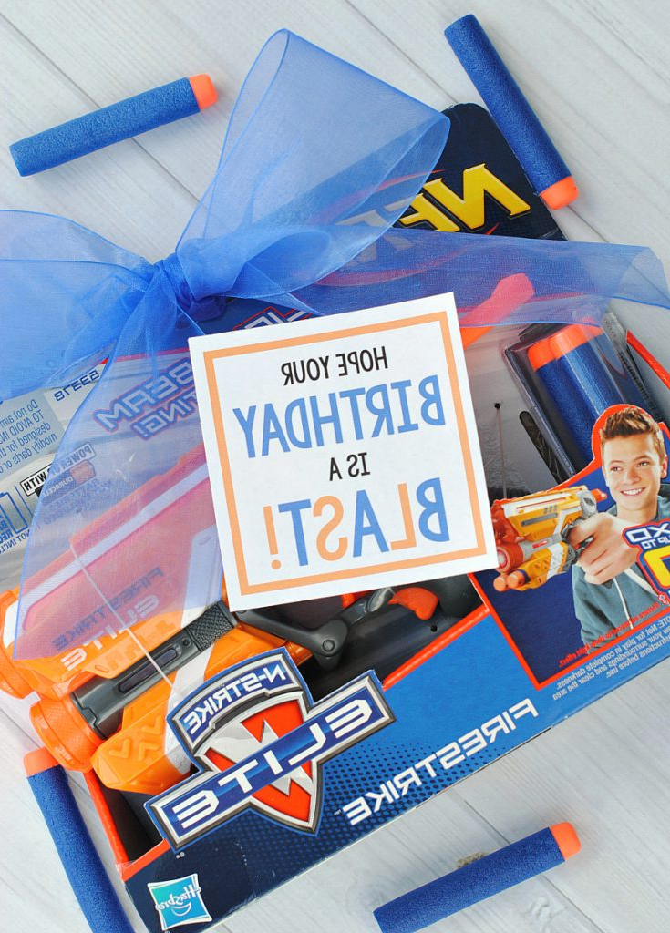 Cool Birthday Presents Nerf Gun Gift Idea Fun Squared