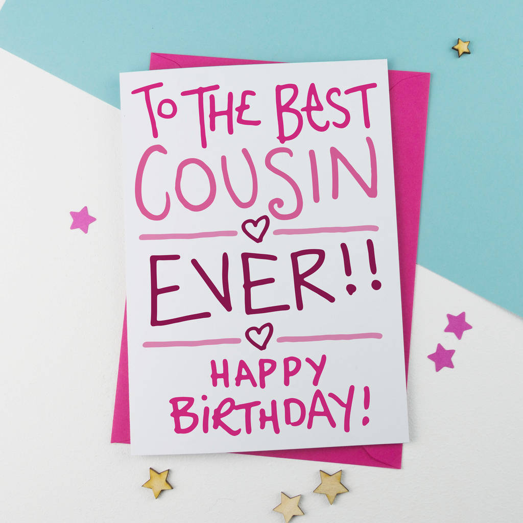 Cousin Birthday Card By A Is For Alphabet