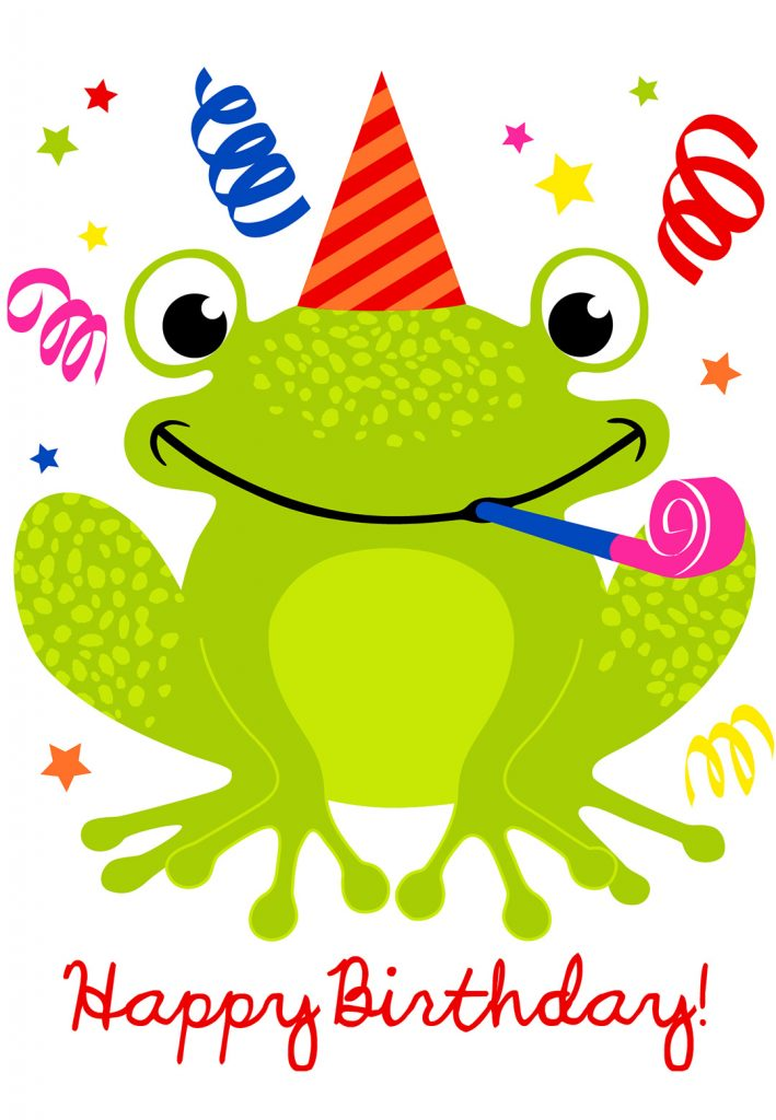 Cute Smiling Frog Birthday Card Greetings Island