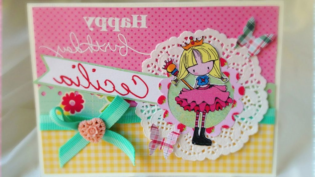 D I Y Baby Girl Birthday Card YouTube