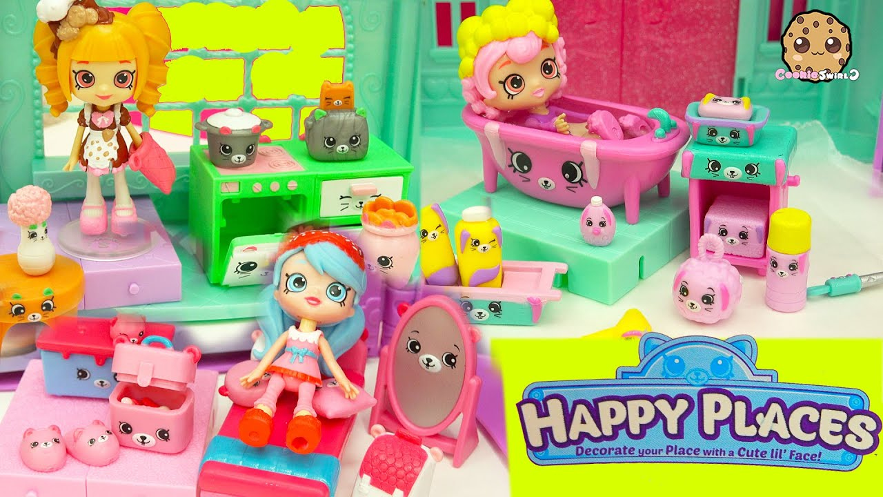 Full Set Of 3 Shopkins Happy Places Petkins Kitchen