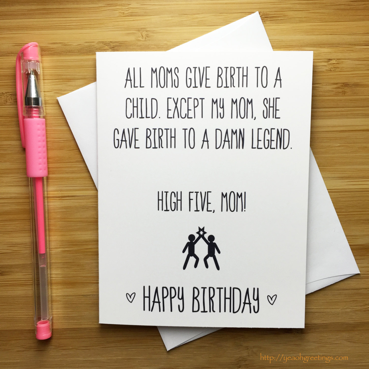 Funny Happy Birthday Mom Card Mother Happy Birthday Happy