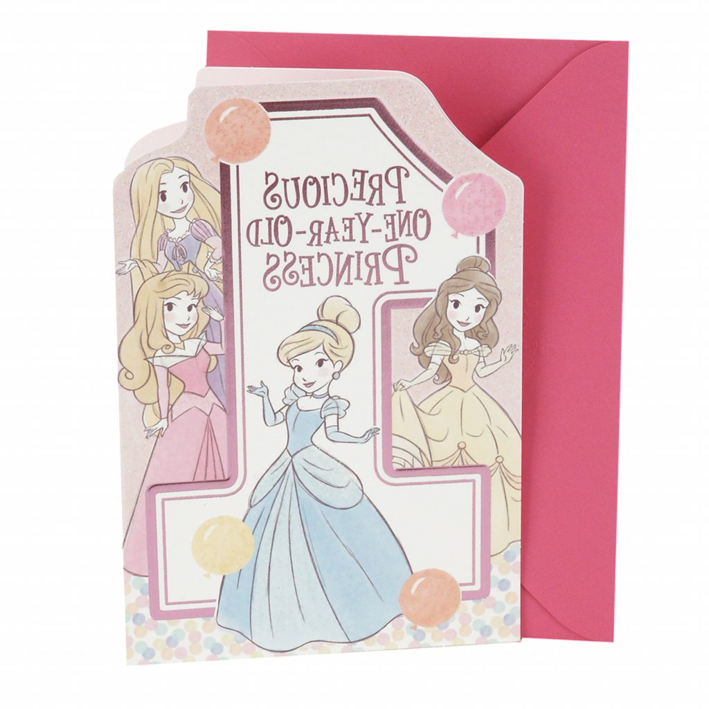 Hallmark 1st Birthday Greeting Card For Girls Disney