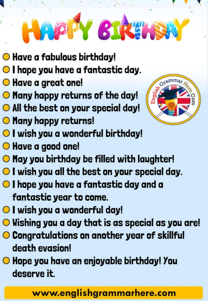 Happy Birthday Messages Happy Birthday Wishes English