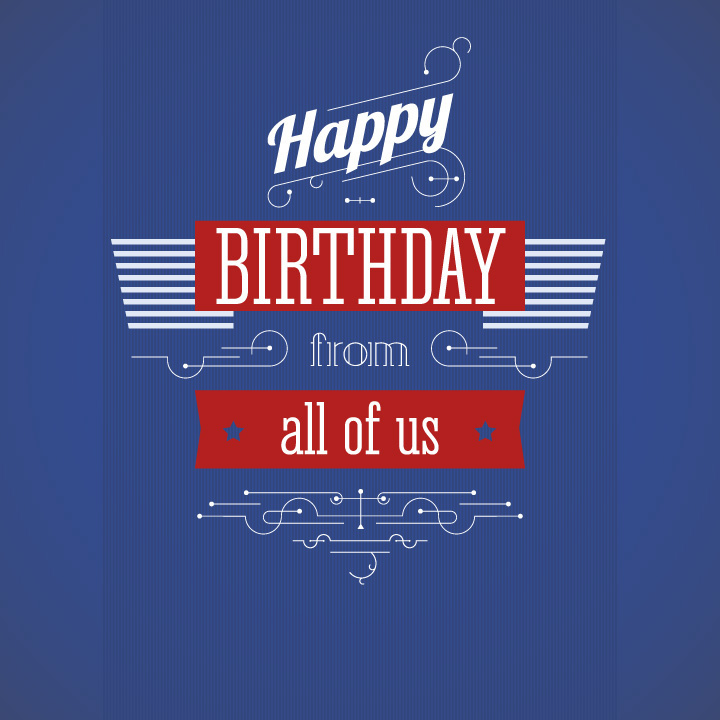 Happy Birthday Vector Posters Set On Behance
