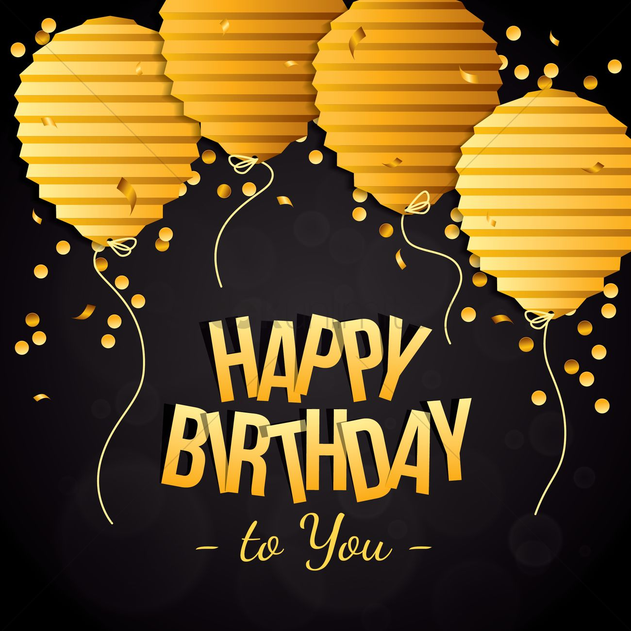 Happy Birthday With Classy Concept Vector Image 1934695