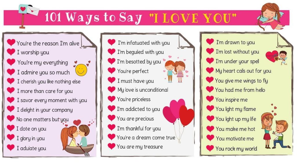 Love Messages 101 Cute Ways To Say I LOVE YOU In English