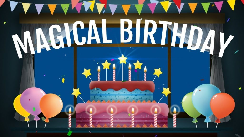 Magical Birthday Animation Video Happy Birthday Wishes