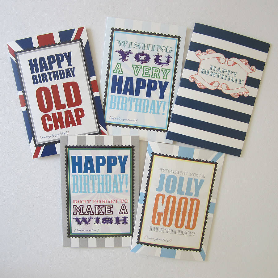 Male Birthday Card By Dimitria Jordan Notonthehighstreet
