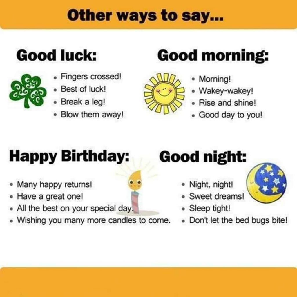 Other Ways to Say Happy birthday good night ESL Buzz