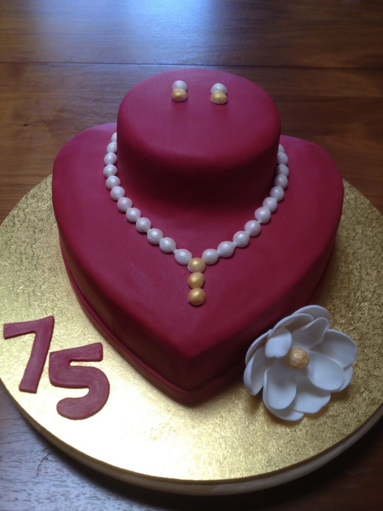 Pearl Necklace Earrings Display Cake With Images