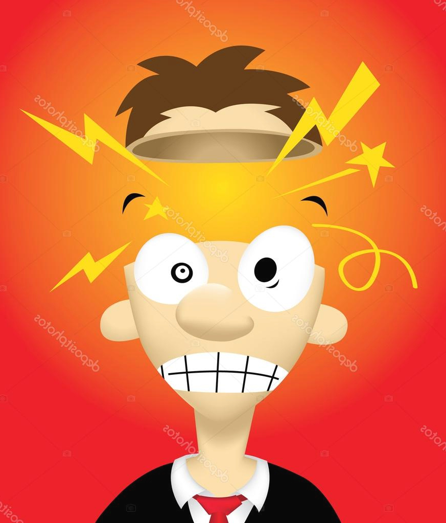 Picture Cartoon Head Exploding Exploding Head Stock