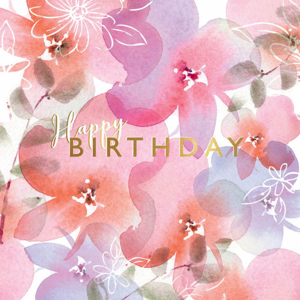 Pink Posies Birthday Card Free Greetings Island