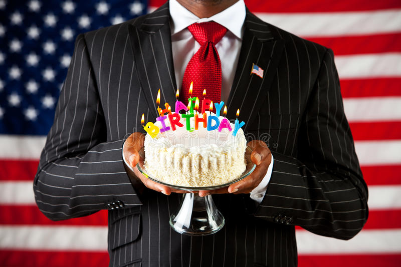 Politician Happy Birthday To America Stock Photo Image