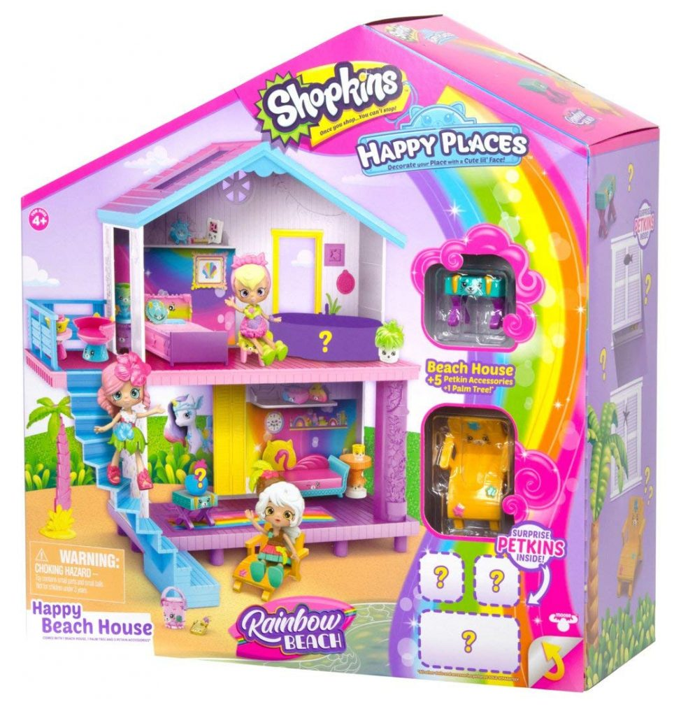 Shopkins Happy Places Rainbow Beach House Playset Only 12