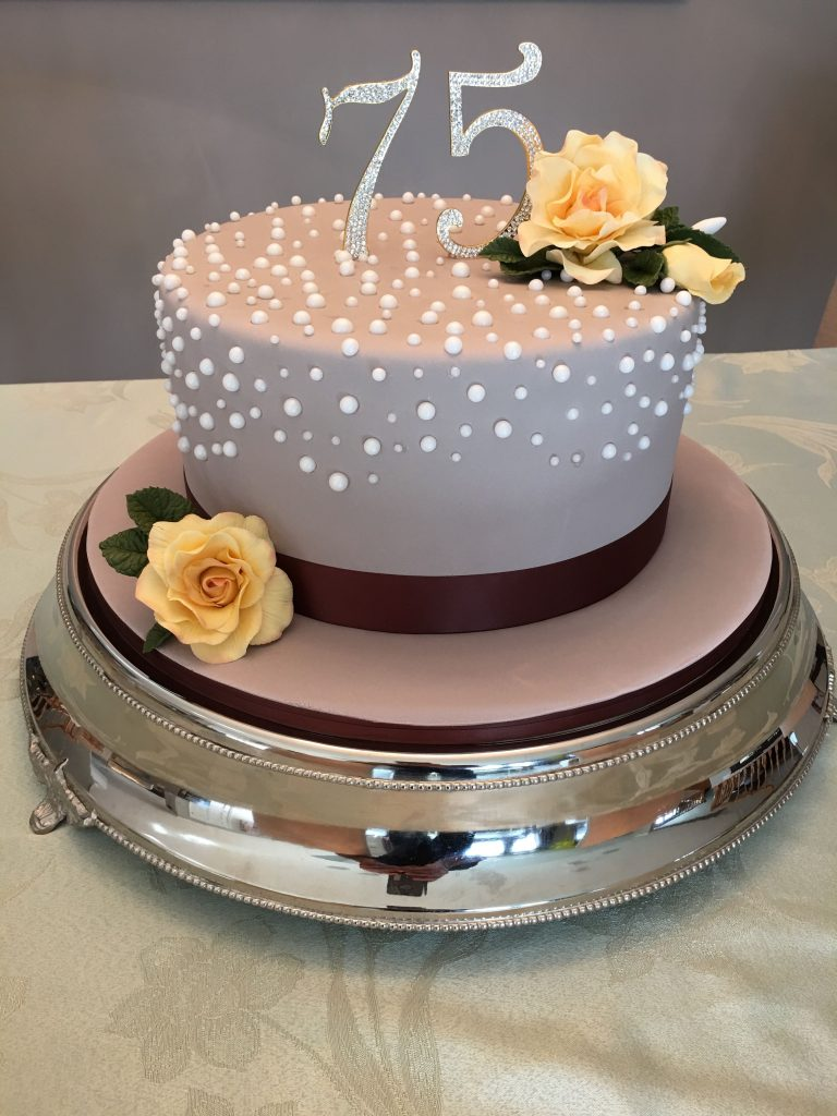 Simple And Elegant Birthday Cake For Mom 75 Birthday