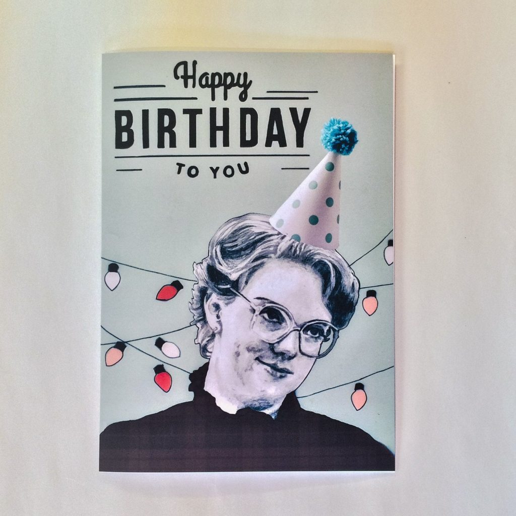 Stranger Things Illustrative Barb A5 Birthday Card