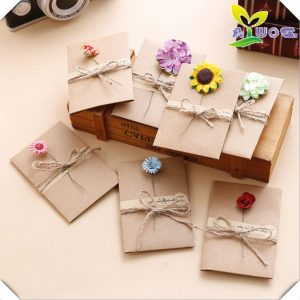 DIY Retro Handmade Creative Greeting Cards Envelopes Dry
