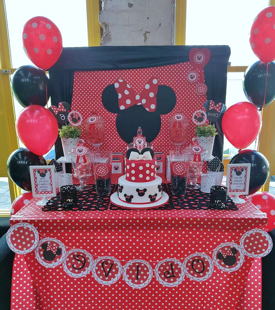 Minnie Mouse Birthday Party Ideas Photo 9 Of 17 Catch