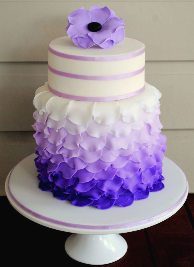 Purple Petal Cake Petal Cake Cake 40th Birthday Cake