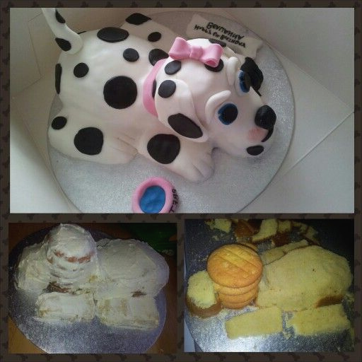 The Easy Way To Make A Dog Shaped Cake Cake Ideas