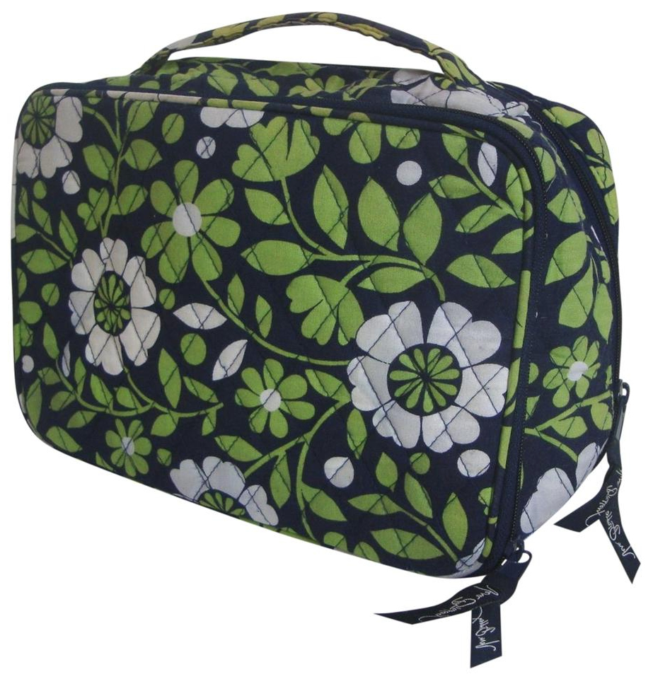 Vera Bradley Blue And Green Floral Lucky You Cosmetic Bag