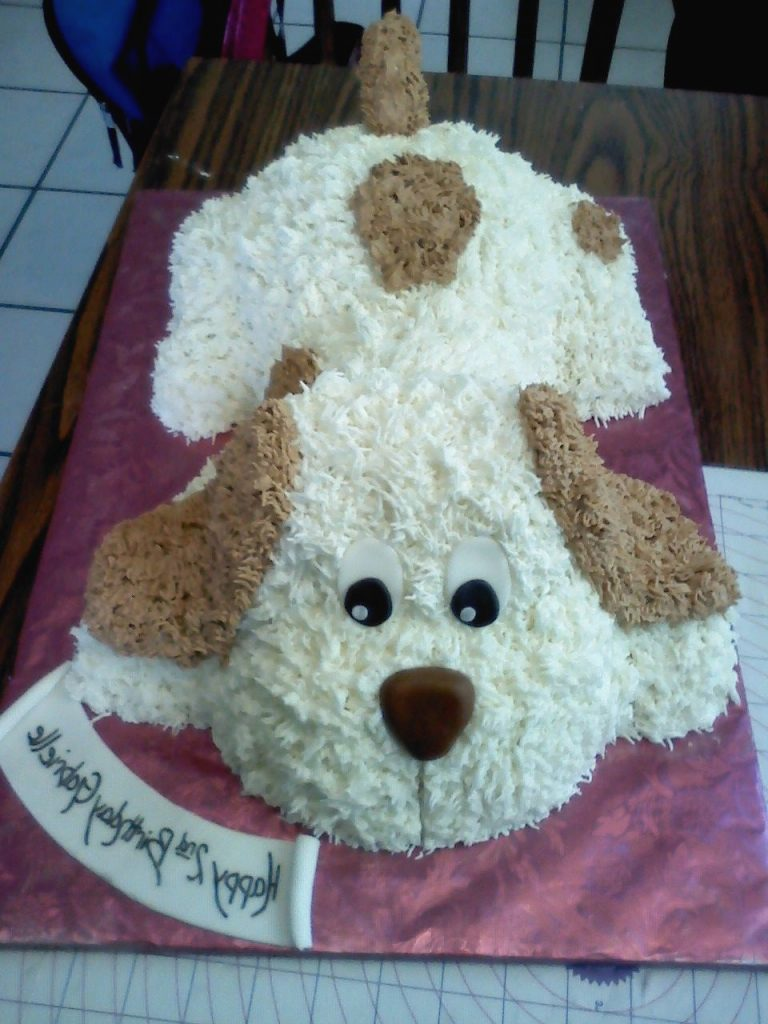 Www facebook nikkiscreativeconfections Puppy Cake