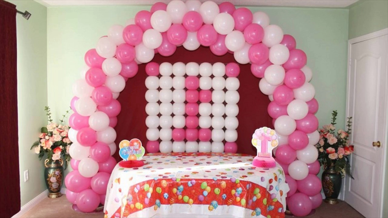 1st Birthday Balloon Decorations YouTube