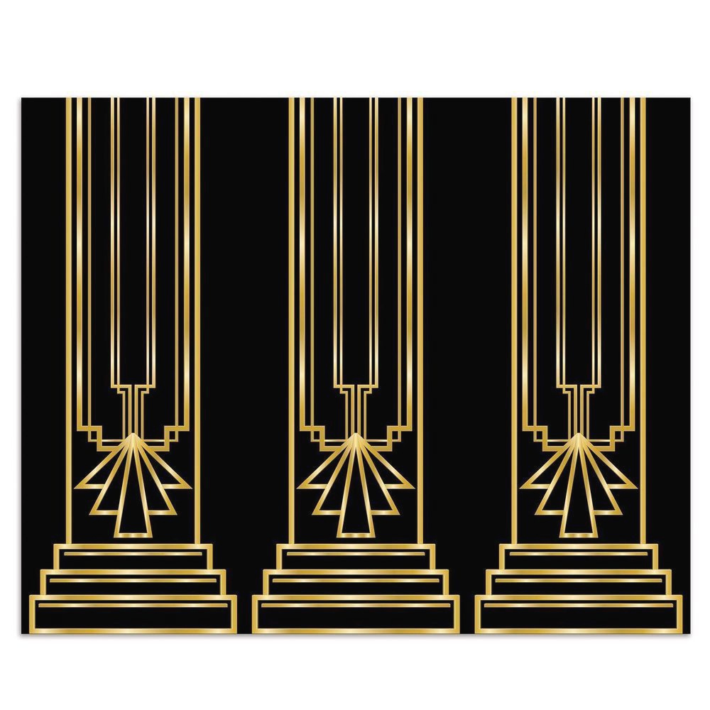 Art Deco GREAT GATSBY 20s COLUMN BACKDROP Party Decoration