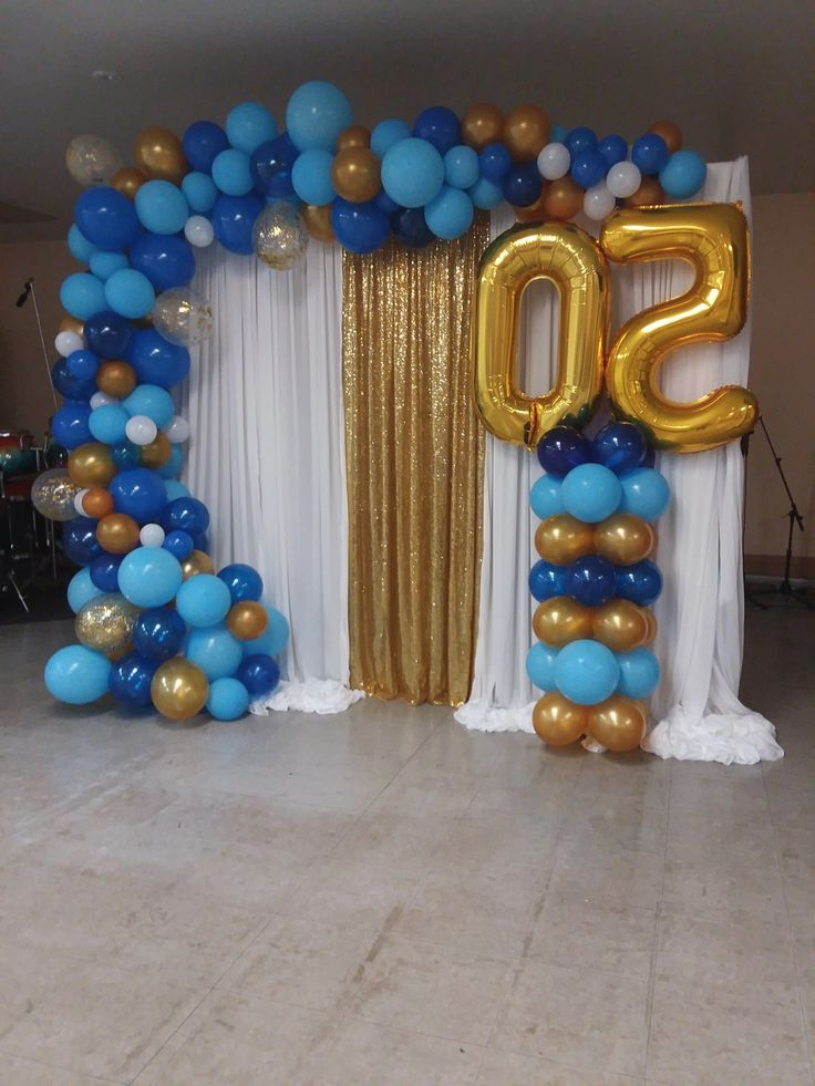 Balloon Garland For A 50 Year Anniversary 50th Birthday
