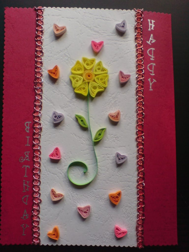 Chami Crafts Handmade Greeting Cards Hearts Birthday Card