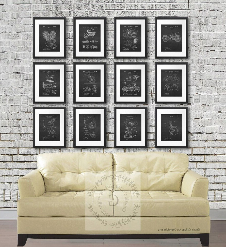 Harley Davidson Patents Posters Set Of 12 Unframed Wall