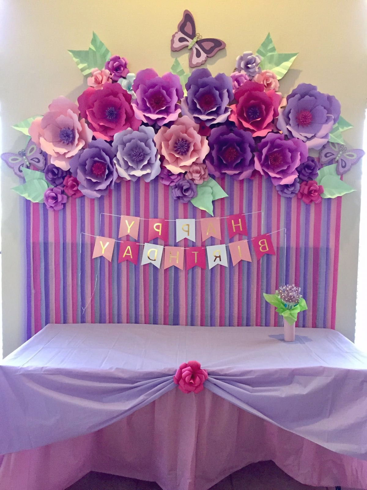 Paper Flowers Birthday Decoration Flower Party