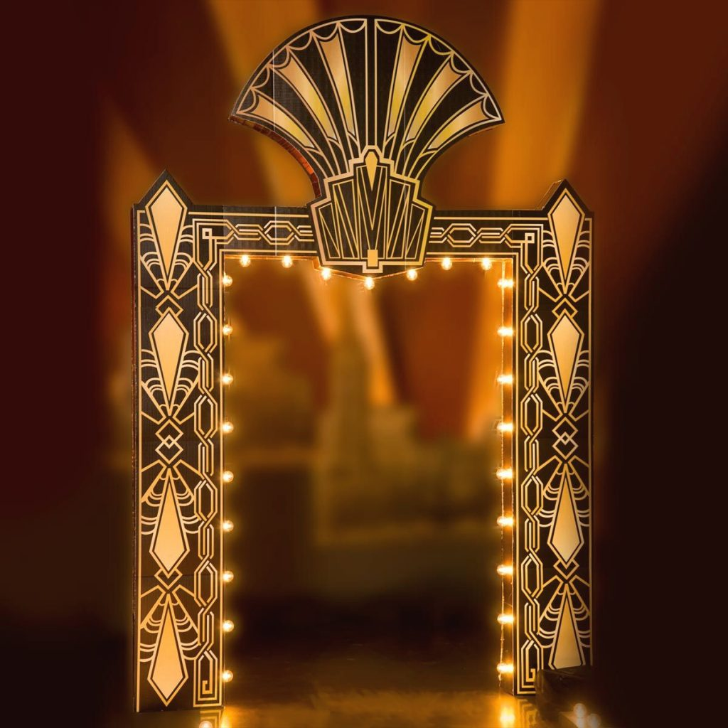 Puttin On The Ritz Art Deco Arch With Lights Art Deco