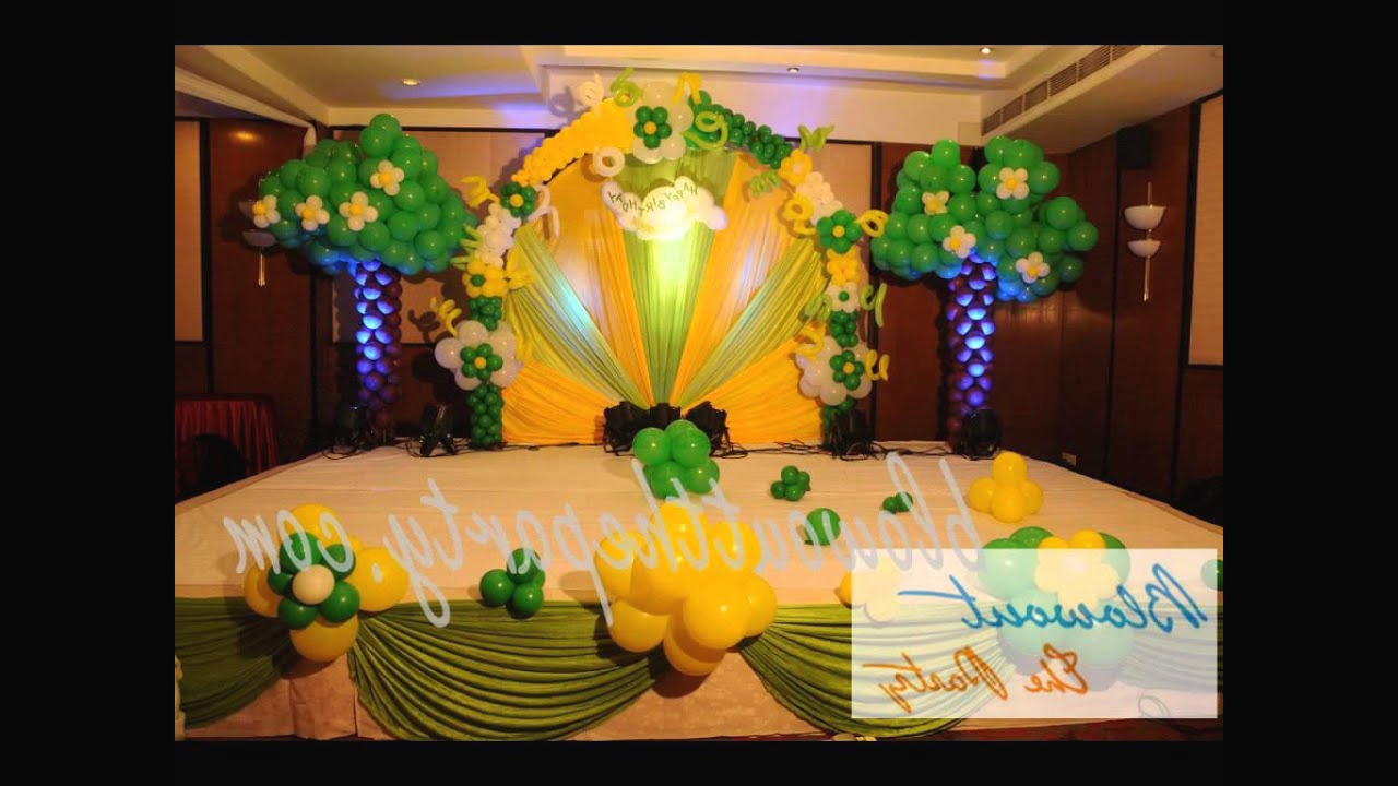 Birthday Party Decorations In Hyderabad YouTube