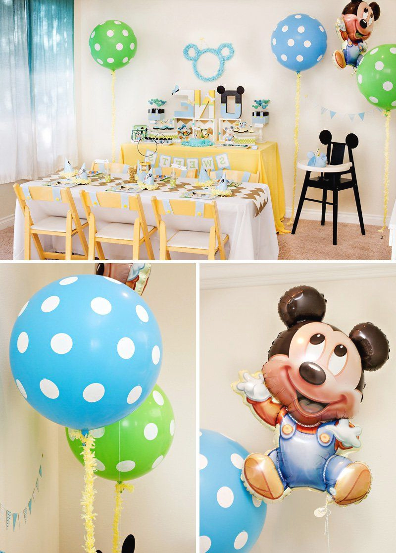Creative Mickey Mouse 1st Birthday Party Ideas Free