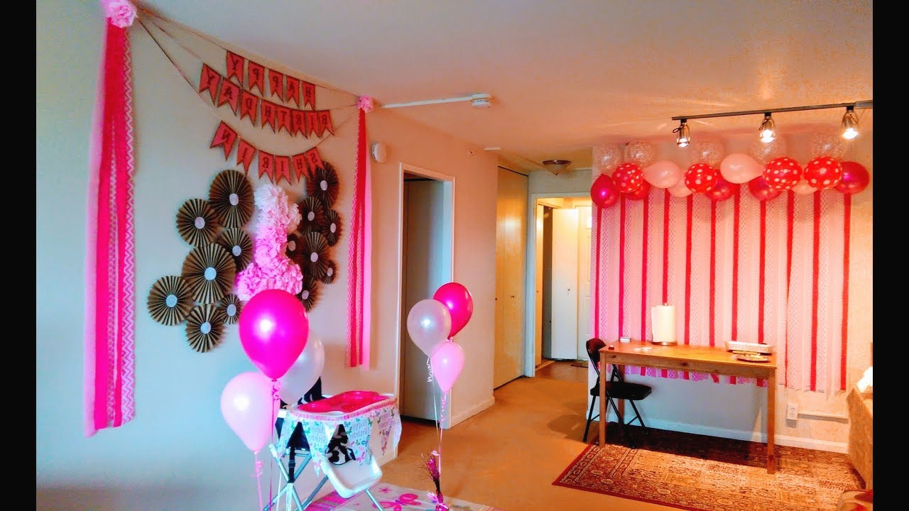 DIY First Birthday Decoration Ideas At Home YouTube