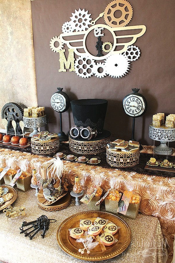 DIY Steampunk Birthday Party Theme Super Cool Decorations