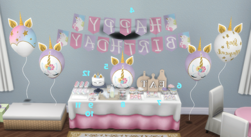 Happy Birthday Unicorn Party Sims Sims 4 Toddler Sims Baby