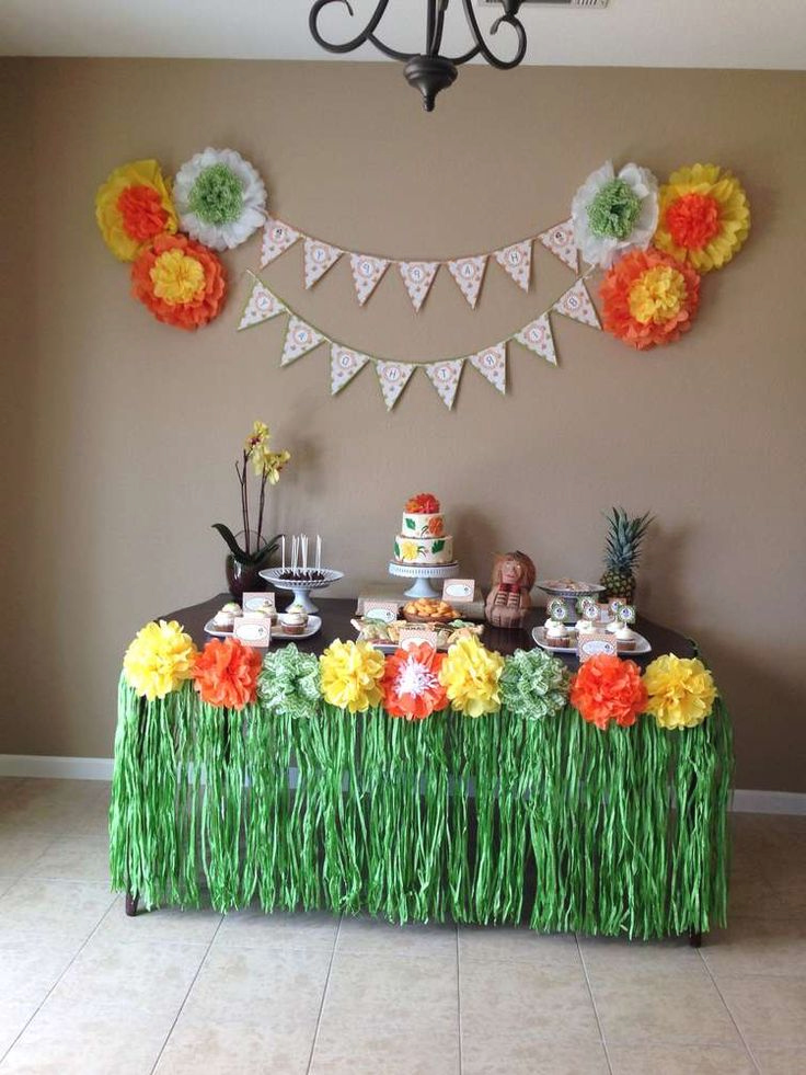 Hawaiian Luau Birthday Party Ideas Hawaiian Party