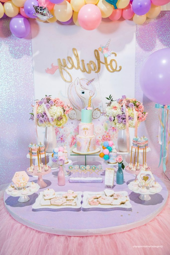 Kara s Party Ideas Sparkly Baby Unicorn Birthday Party