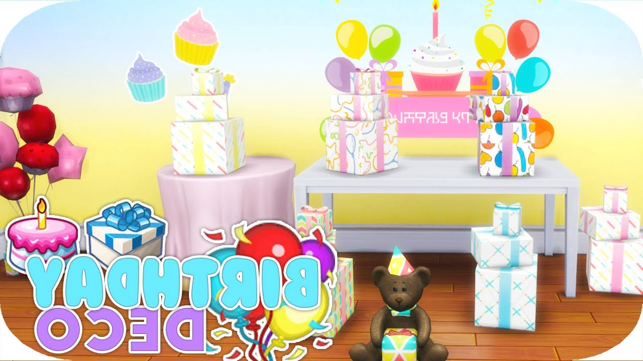 THE SIMS 4 BIRTHDAY DECORATIONS SET YouTube