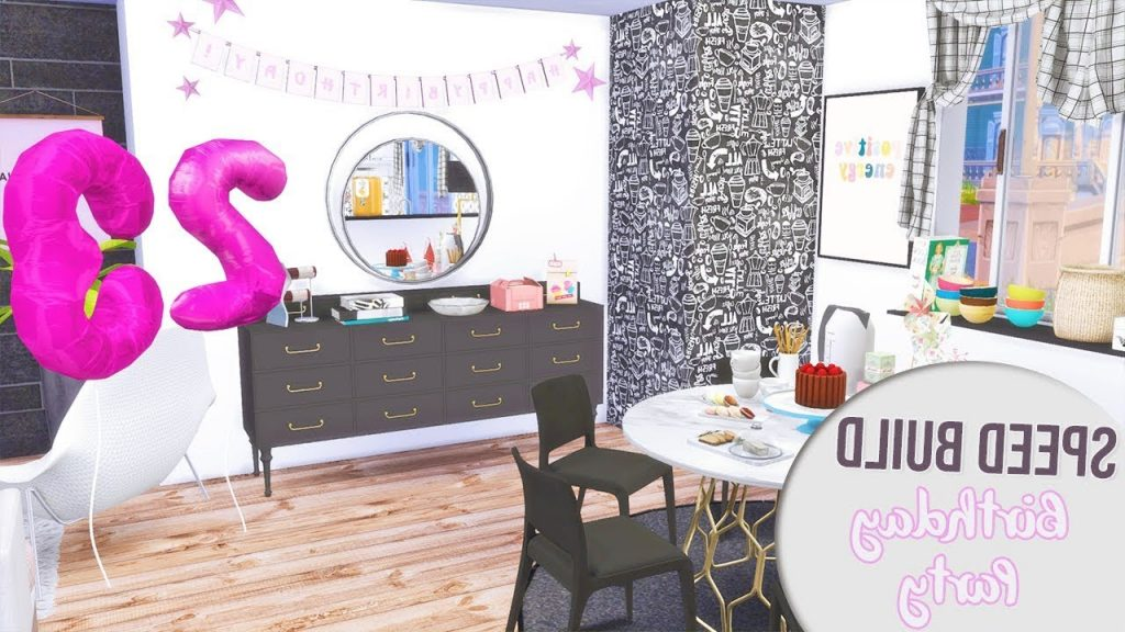 The Sims 4 Speed Build BIRTHDAY PARTY CC Links YouTube