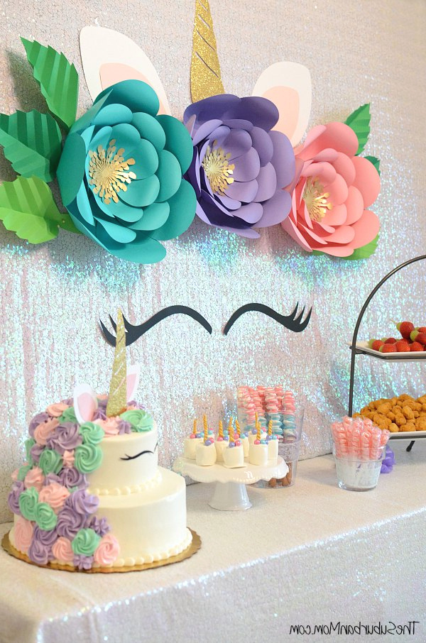 Unicorn Birthday Party Ideas Food Decorations