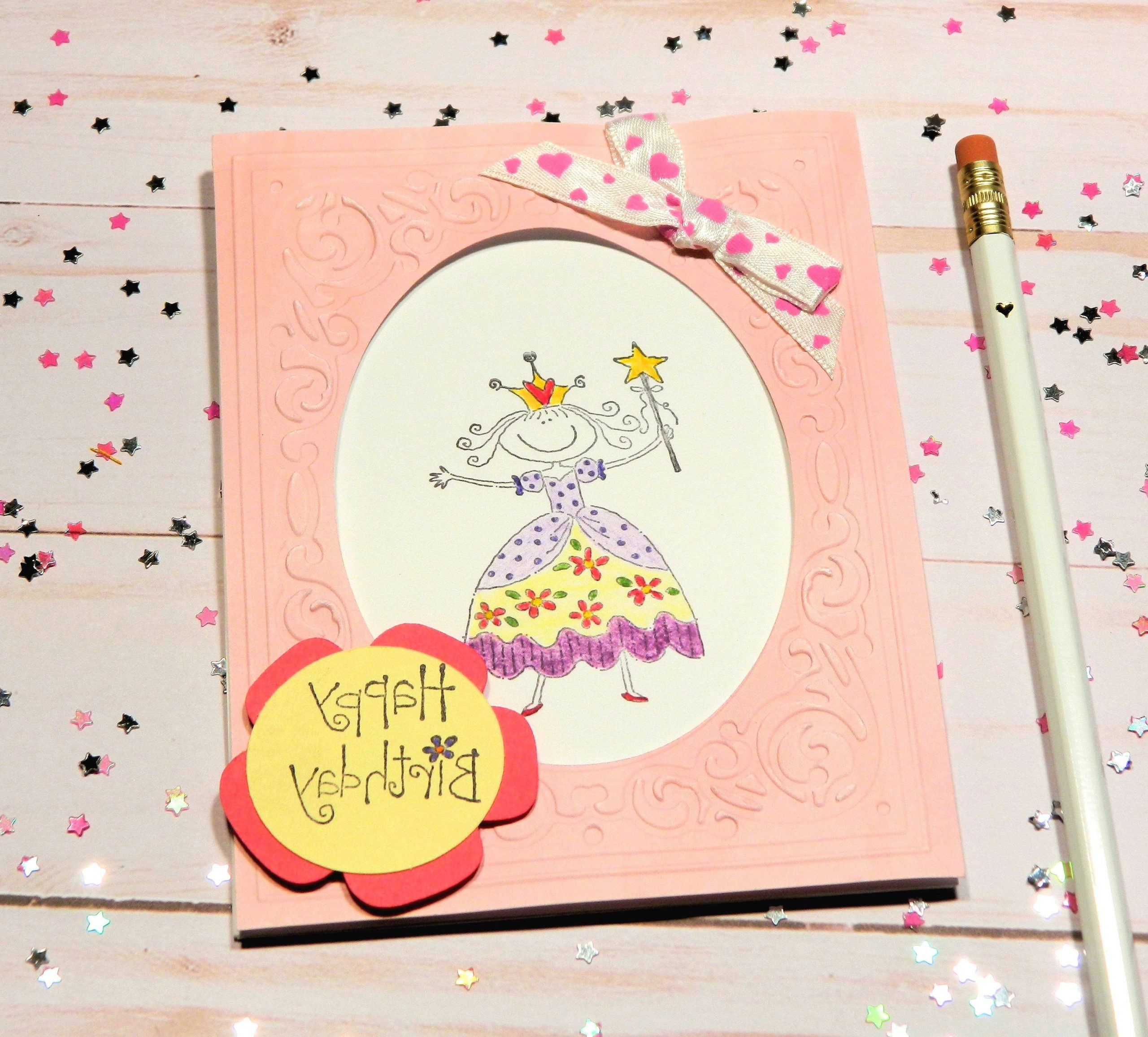 Bday Cards For Her Princess Bday Happy Birthday Her Cute