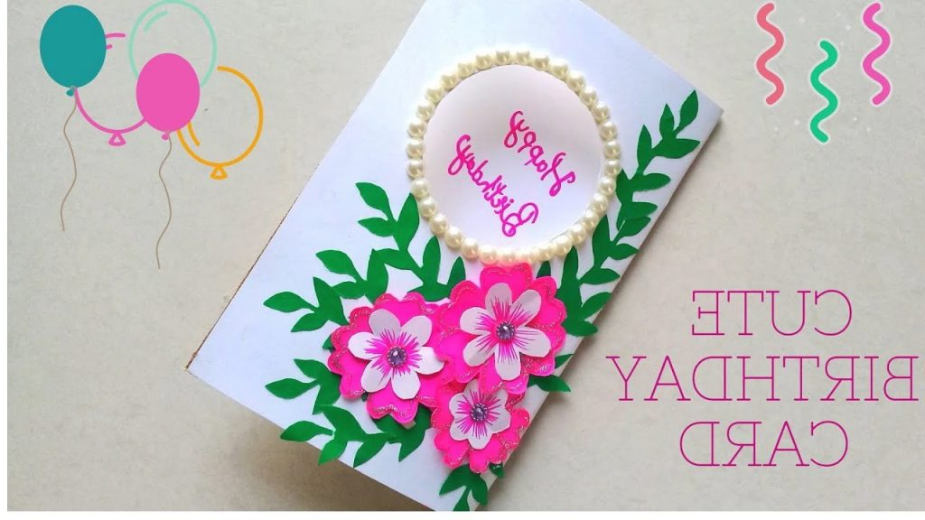 DIY Beautiful Cute Flower Greeting Card How To Make